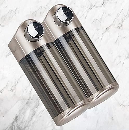 TBSHX Soap Dispenser, dispensador de Gel dosificador de jabon dosificador jabon baño Pared Dispensador de jabón Manual/de Pared(Dorado Los 15,3 * 8,6 * 19,1 cm)
