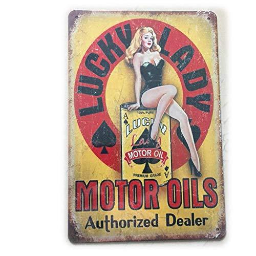 yycsqy IJzeren schilderij tinnen metaal schilderij vintage metaal wandkunst metalen platen plaqué motorolie Plaque Vintage Home bar Pub garage tankstation decoratieve ijzeren platen muursticker kunst poster