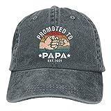 Promocionado a Papa 2021 New Daddy Gorra de béisbol Ajustable Vintage Denim Lavado Algodón Sombrero para el Sol al Aire Libre