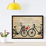 Nacnic Poster de Bici con Corazones. Láminas de Bicicletas...