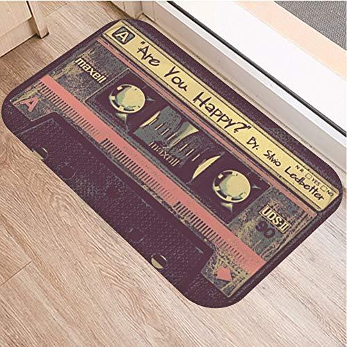 OPLJ Cinta de cassette para el suelo, antideslizante, alfombra para puerta de baño, cocina, entrada, decoración del hogar, alfombra A20, 60 x 180 cm