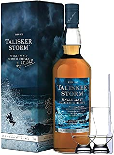 Talisker Storm Isle of Skye Single Malt Whisky 0,7 Liter  2 Glencairn Gläser und Einwegpipette