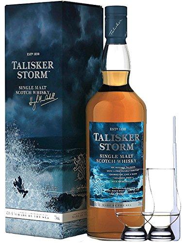 Talisker Storm Isle of Skye Single Malt Whisky 0,7 Liter + 2 Glencairn Gläser und Einwegpipette