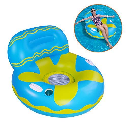 SUNSHINE-MALL Colchoneta hinchable para piscina (sofá azul)