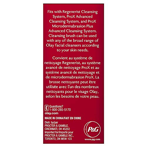 Olay Facial Cleaning Brush ProX, Advanced Facial Cleansing System Replacement Brush Heads, 2 Count