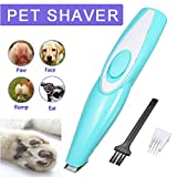 Dog Clippers - Dogs Cats Grooming Kit, Rechargeable Low Noise Electric Pet Clippers for Hair Around Face, Paws, Eyes, Ears, Rump