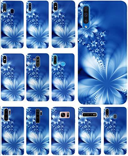 CoverHeld Hülle für Lenovo K5 Handyhülle Design 1020 Abstract Blume Blau aus flexiblem Silikon SchutzHülle Softcase HandyCover Hülle für Lenovo K5