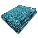 Craft Story Decke Yara I Uni türkis aus 100prozent Baumwolle I Tagesdecke I Sofa-Decke I Überwurf I Picknickdecke I Nutz- und Schutzdecke I ca.170 x 220cm