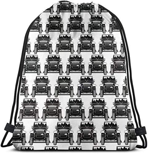 KINGAM Mochila de hombro con cordón casual, para mujeres y hombres, mochila de cuerda deportiva grande, para estudiantes, ligera, para coche, para jeep, bolsas de viaje