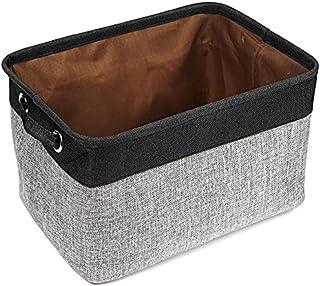 Boîte de rangement Panier de Rangement de Stockage Pliable, Pliable avec poignée, bacs de Rangement rectangulaire pour LUX...