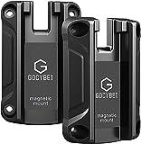 Gocybei Gun Magnet Mount & Holster for Vehicle and Home - Magnetic Handgun Mount, Quick Load for Self Defense, Concealed Holder Gun Accessories for Handgun, Pistol, Car, Wall, Safe