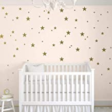Stars Wall Decals (124 Decals) Wall Stickers Removable Home Decoration Easy to Peel Stick Painted Walls Metallic Vinyl Pol...