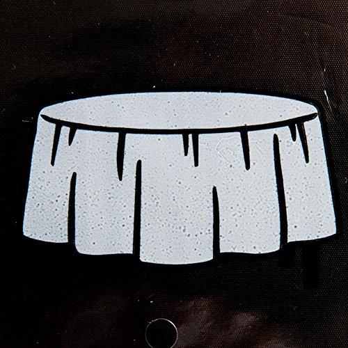 Rond zwart tafelkleed - Basis Kleuren Lijn