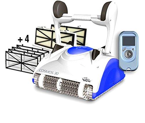 Maytronics Dolphin Cosmos 30 Digital con Telecomando - Robot Elettrico Pulitore per Piscina fino a 15 Mt