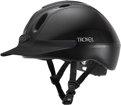 TROXEL SPIRIT Black DURATEC 1 Equestrian Riding Adjustable Helmet /♦ ASTM//SEI Certification