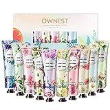 Ownest 10 Pack Flower Fragrance Crema de manos con manteca de karité, Vitamina E, Crema de manos Set de regalo Hidratante para manos y pies secos-30ml