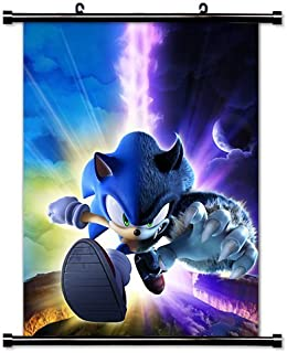 Poster Sonic The Hedgehog Game Fabric Wall Scroll (16