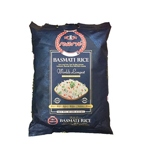Zafarani Reserve GMO Free Extra Long Grain Taste the Best Aromatic Authentic Basmati Rice with Rich Aroma  10lbs 453kg