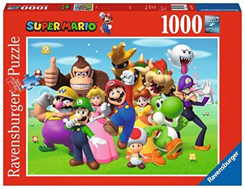 Ravensburger Puzzle 14970 - Super Mario - 1000 Teile Puzzle für Erwachsene und Kinder ab 14 Jahren, Puzzle-Motiv mit Mario, Yoshi, Donkey Kong & Co.