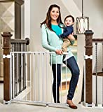 Regalo 2-in-1 Stairway and Hallway Wall Mounted Baby Gate, Bonus Kit, Includes Banister and Wall...