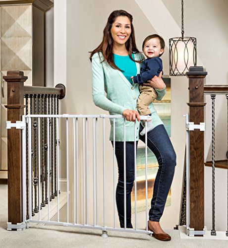 Regalo 2-in-1 Stairway and Hallway Wall Mounted Baby Gate,...