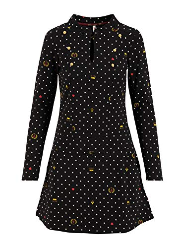 Blutsgeschwister Damen Kleid Tiny March Dress kingly Souvenirs schwarz - M
