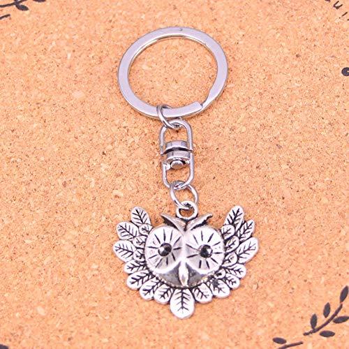 TAOZIAA Fashion Sieraden Accessoires Zilver Hanger groot oog uil Sleutelhanger Sleutelhanger Ring Voor Vrouwen Mannen Geschenken Sleutelhanger