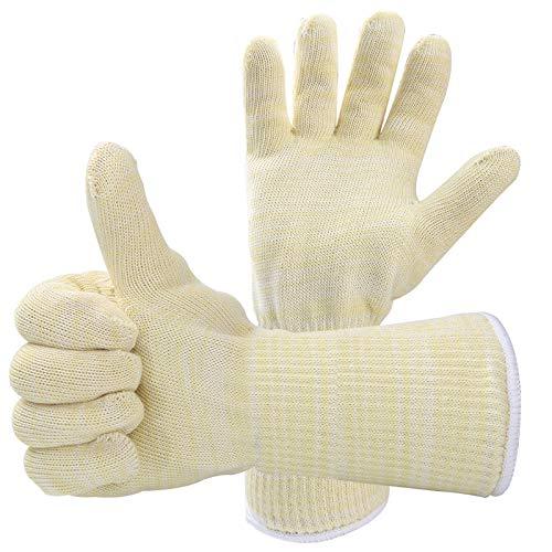 1set Grillhandschuhe,Ofenhandschuhe BBQ Kochenhandschuhe Handschuhe Hitzebeständige 500 ° C Universalgröße Backhandschuhe für Küche & Grill Kochen Backen