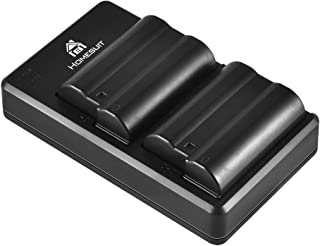 Homesuit 2-Pack EN-EL15 EN-EL15A Batteries and USB Dual Charger Set for Nikon D500, D600, D610, D750, D800, D800e, D810, D...