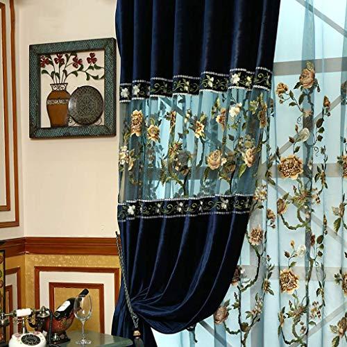 Eastery Xueping gordijn in water oplosbare borduurgordijnen eendelig mozaïekontwerp 12 maten klaar eenvoudige stijl product geschikt voor de woonkamer slaapkamer vloer tot aan het plafond raam