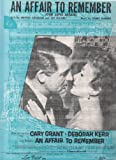 sheet music cover: An Affair to Remember