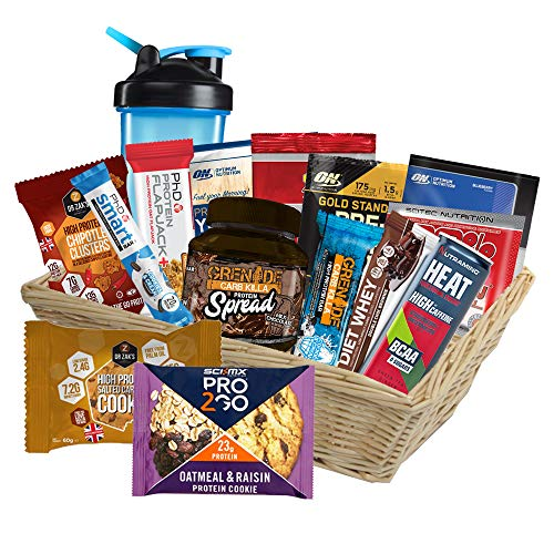 Ultimate High Protein Hamper Gift Box Basket for Him / Her, Birthday, Special Occasion, Mother's Day, Father's Day Christmas, Easter, Holiday, New Year Party