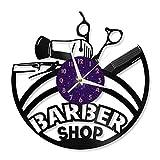Haircut - Reloj de Pared de Vinilo de 12 Pulgadas, Reloj de Pared de Vinilo para Cocina, hogar, Sala de Estar, Dormitorio (P), Reloj de Pared de Vinilo, diseño Exclusivo de música,