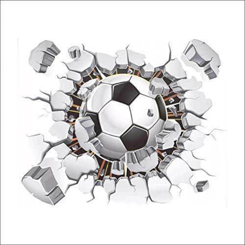 CSCZL Pegatinas de pared de fútbol roto en 3D para el aula, Bar, Club, fondo, decoración de pared, póster de pared, papeltapiz, calcomanías artísticas