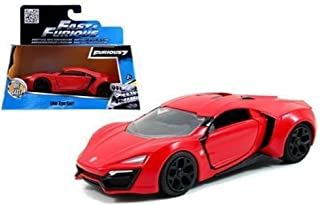Jada Toys New 1:32 W/B Fast & Furious 7 Red Lykan Hypersport Diecast Model Car