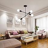 DAXGD Lámpara de techo industrial de 4 cabezas, lámparas de techo E27 Vintage sin bombillas para iluminación y decoración de interiores, Diámetro: 42 CM