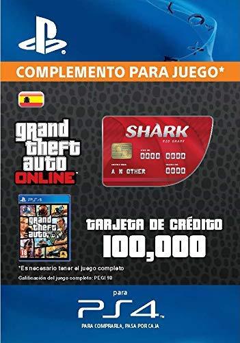 Grand Theft Auto Online - GTA V Cash Card   100,000 GTA-Dollars   Código de descarga PS4 - Cuenta Española