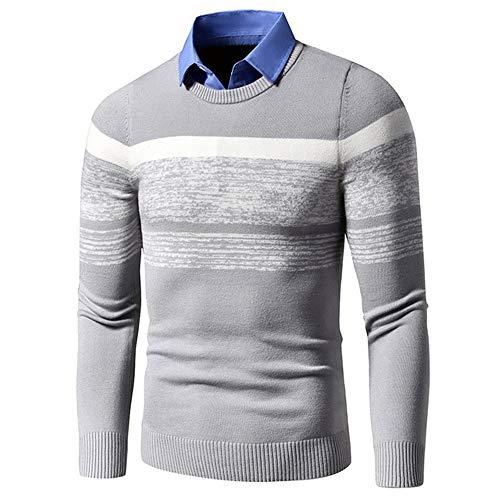 U/A Otoño Invierno Casual Suéter Caliente Jerséis Gire Abajo Camisa Collar Hombres Patrón De Tejer Trajes Suéter De Abrigo De Los Hombr