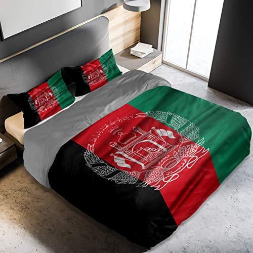 CHINFY Bettwäsche-Set, leicht, weich, Mikrofaser, Flagge, Iran, Tadschikistan, Afghanistan, Einzelbettgröße, Heimdekoration für Jugendliche, Jungen & Mädchen