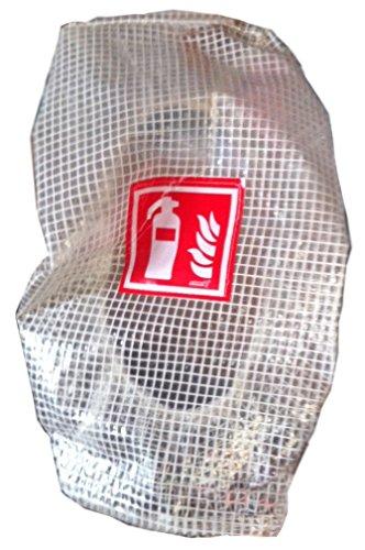 Gitternetzschutzhaube für 6kg Feuerlöscher mit aufgenähtem ISO Symbol