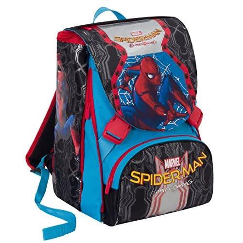 Zaino scuola ESTENSIBILE MARVEL - SPIDERMAN HOMECOMING - Nero Blu Rosso 31Lt