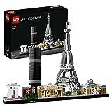 LEGO Architecture Parigi, Set di Costruzioni con Torre Eiffel, Louvre, Collezione Skyline, Idea Regalo Collezionabile, 21044