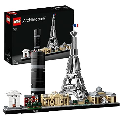 LEGO 21044 Architecture Paris, Baumodell mit Eiffelturm und Louvre, Skyline-Kollektion, Geschenkidee für Sammler