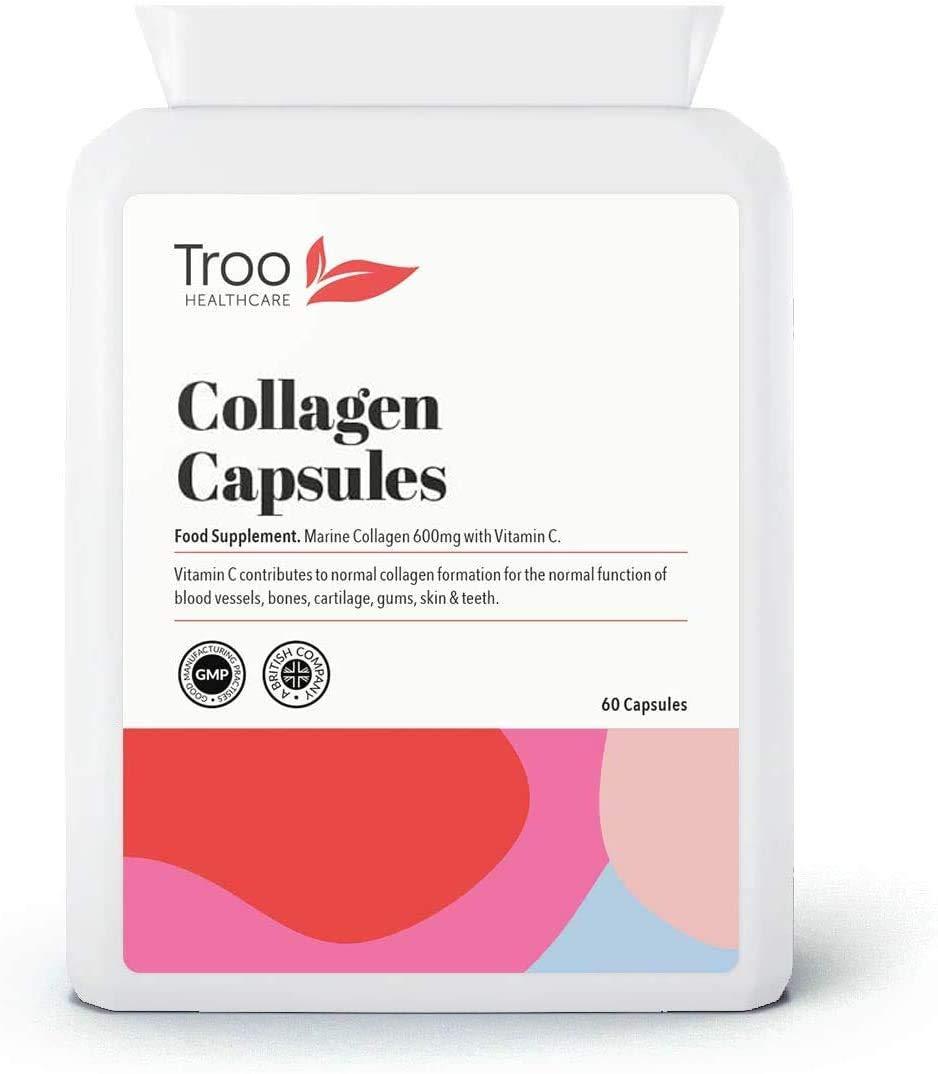 Cápsulas de colágeno marino puro 60 x 600 mg, colágeno hidrolizado tipo 1 y tipo 2, de alta resistencia, cuidado de la piel y suplemento de salud, fabricado en el Reino Unido: Amazon.es: Electrónica