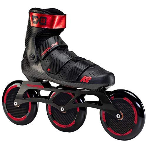 K2 Skates Redline 125 Patines, Unisex-Adult, Negro/Rojo, 45 EU