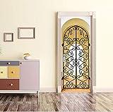 Türfolie Diy Türfolie Poster Selbstklebend Retro Architektonische Religiöse Türaufkleber Der Europäischen Bögen Für Wohnzimmer Schlafzimmer Pvc 88X200Cm