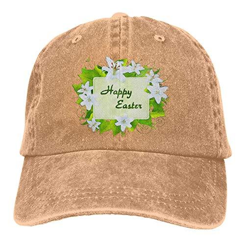 kaifaquqiaoqibaihuodian Trucker Cap Easter Bunny Durable Baseball Cap,Adjustable Dad Hat Black Fashion14122