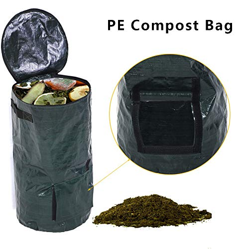 LQKYWNA Waste Compost Bag Trash Garbage Bag Kitchen Probiotics Bags Ferment Disposal Homemade Organic Vegetable Grow Bag Garden Supplies (45x80CM)