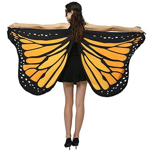 Longra Damen Schmetterling Flügel Faschingkostüme Party Festtagsmode Butterfly Wings Flügel Cosplay Prinzessin Kostüm, Mehrere Farben und Größen