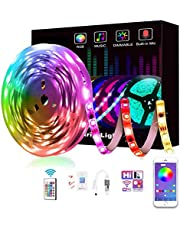 5M LED Light Strip, RGB Strip Lights LED Tape Lighting, 5050 SMD LEDs Smart Wifi Strip Lights, Compatible with Alexa and Google Home